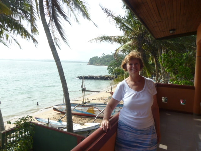 This is my wife Chrisna standing on the balcony