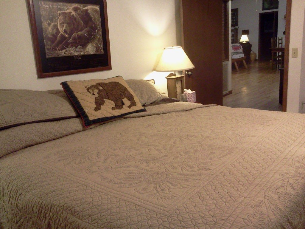 The White Tail Room features a king sized Tempur-Pedic Bed, perfect for sore muscles in the evening. So far I've received rave reviews.