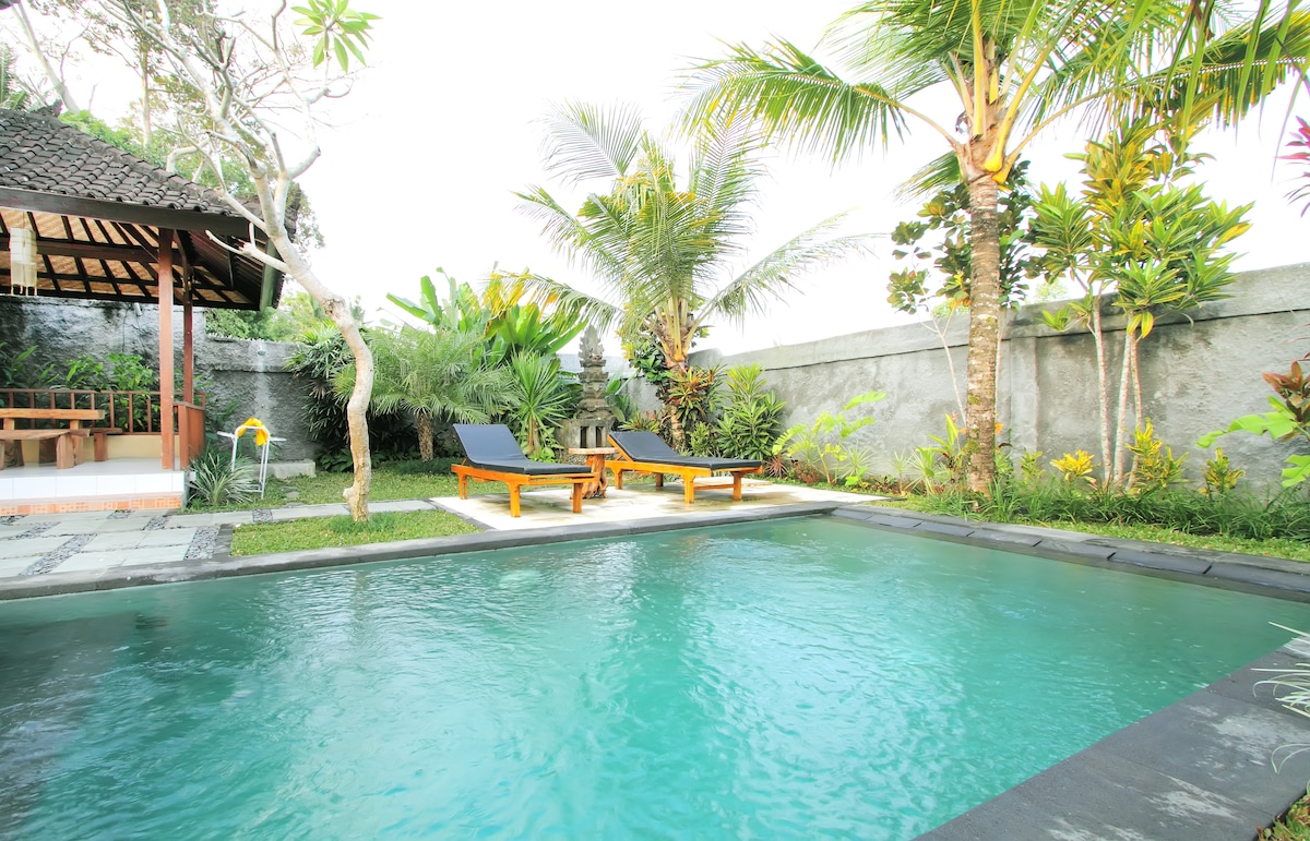 Swimming pool and outside terrace