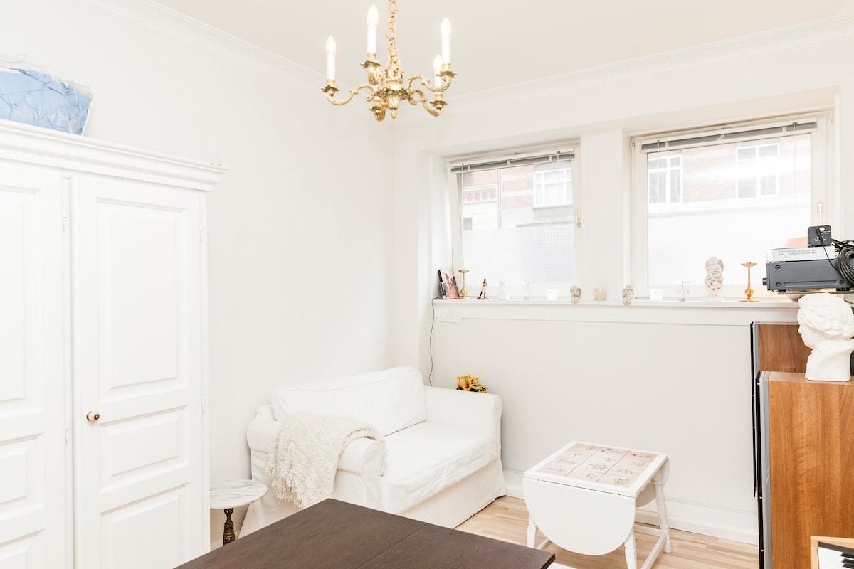 Bright fully furnished g/floor apt.