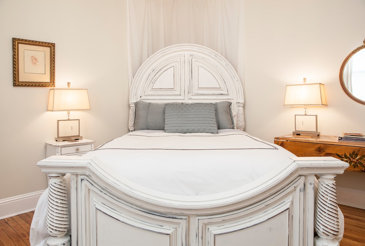 the Loire bedroom  with its queen bed , comfy and soft