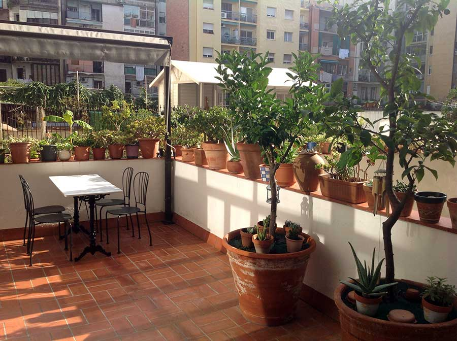 Barcelona modernism with terrace