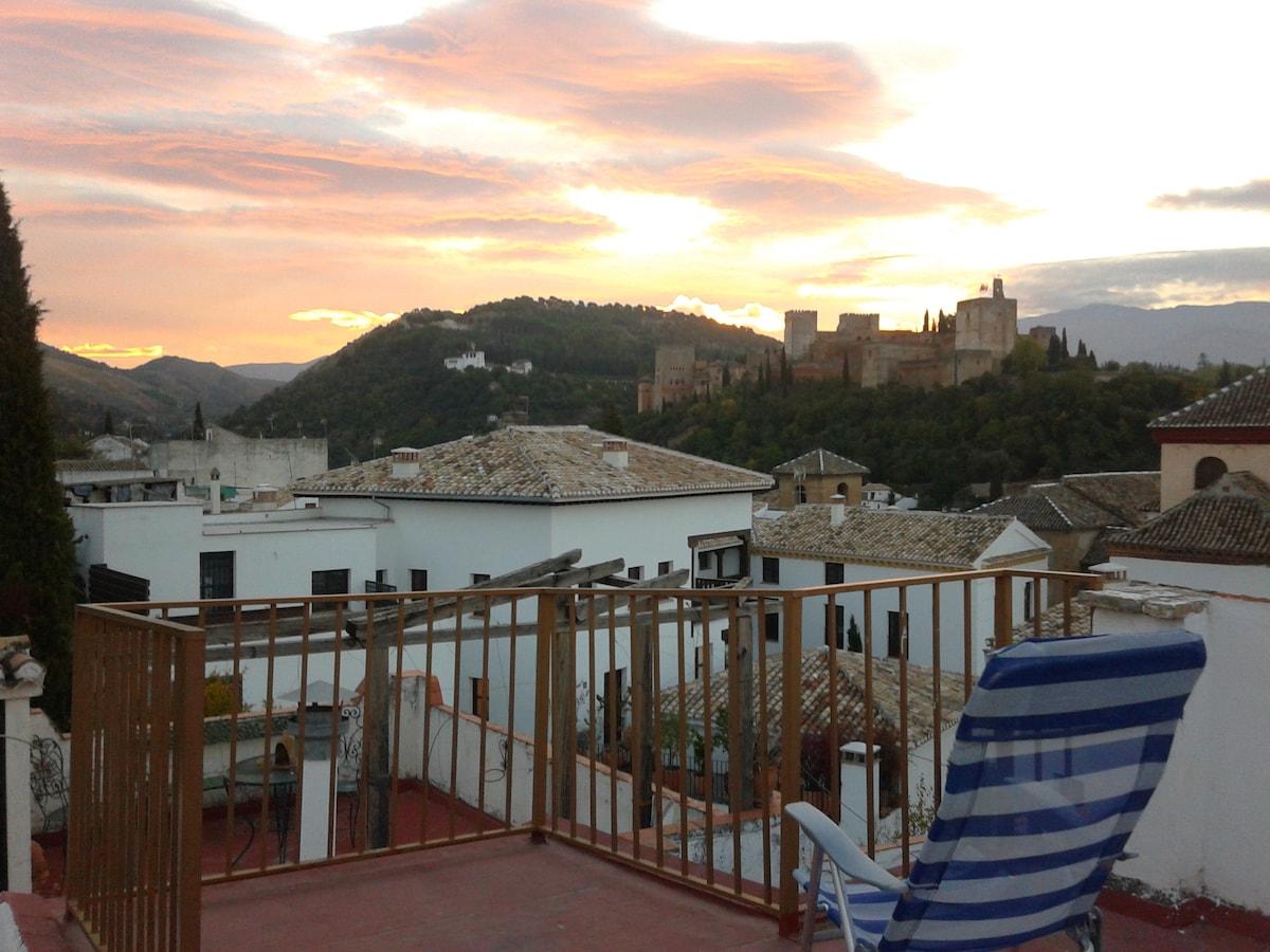 Rooms in Albaicin, wonderful views!