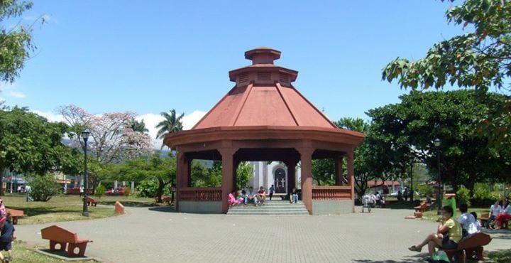 The gazebo in the central park of Santa Barbara.