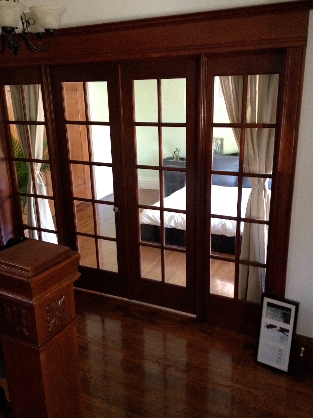 French Door leading to guest room