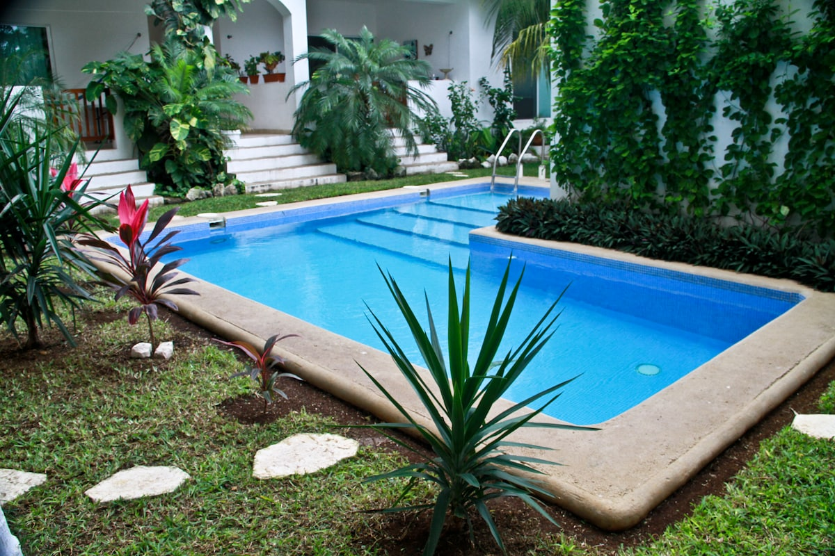 Center courtyard and swimming pool
