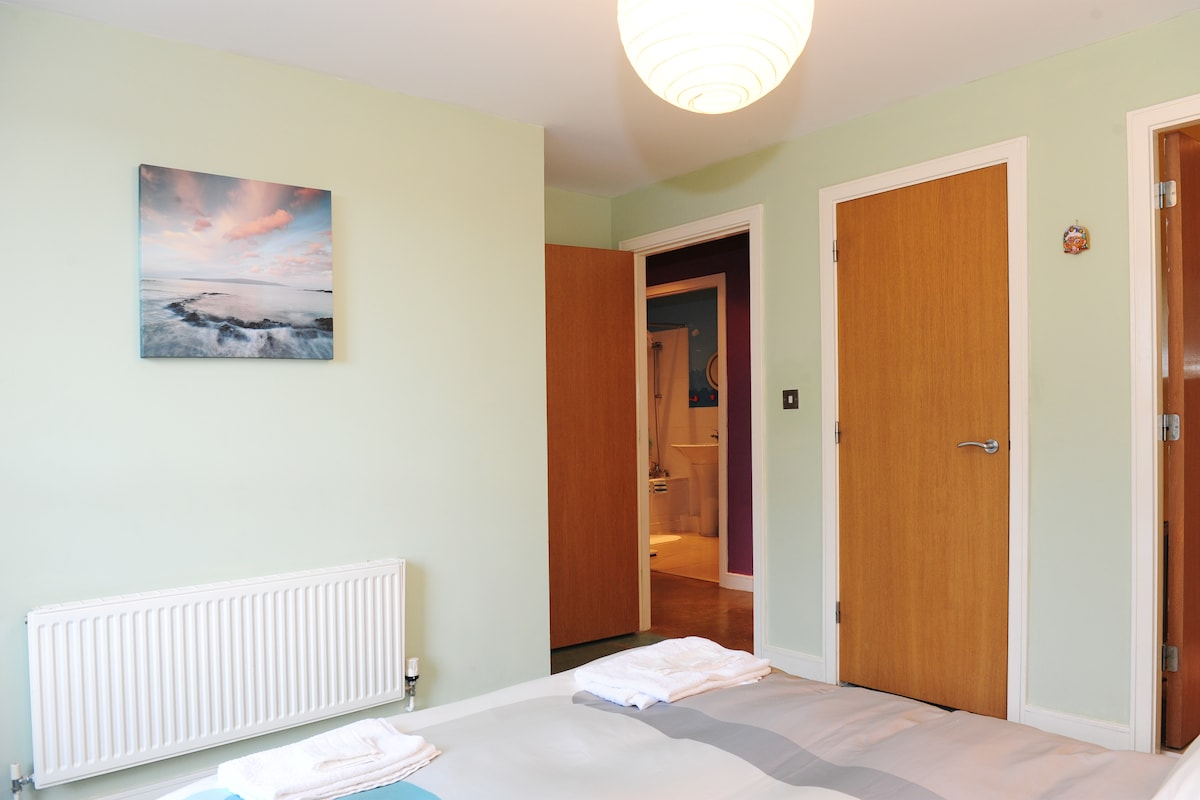 Natural gas radiators with individual thermostats in every room.