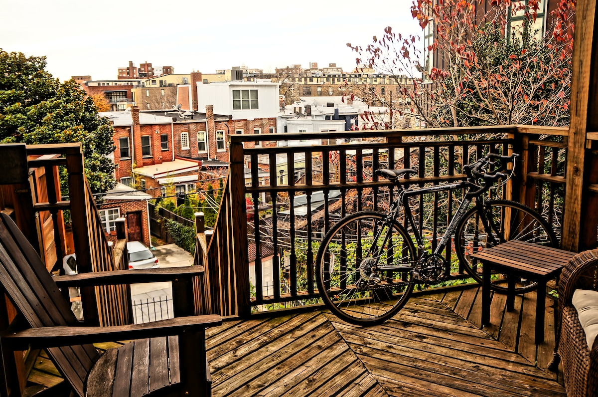 Cool 1BD with terrace