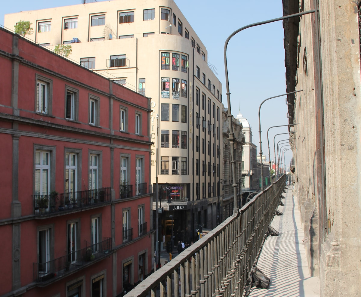 The legendary Balcony, designed by original owner to walk around his house without having to walk out to the street.
