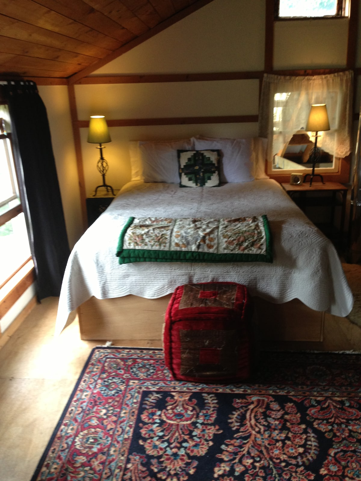 Upstairs - the main bed