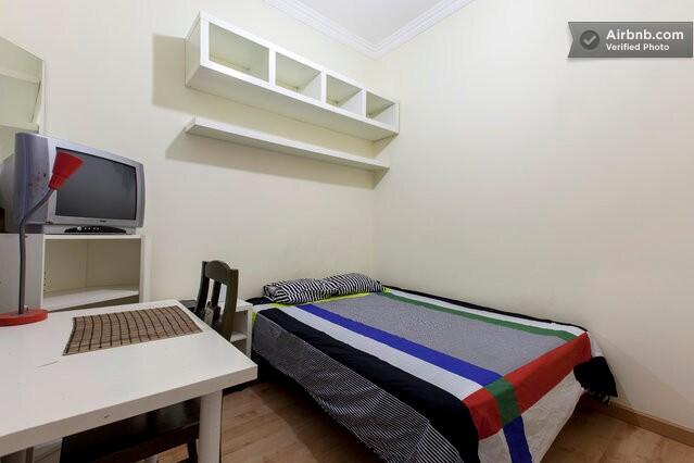 Dormitorio doble amueblado.