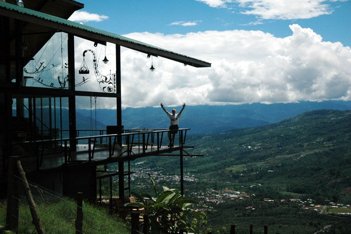 "Volare - it means ""I will fly"". Perched above Turrialba Valley"