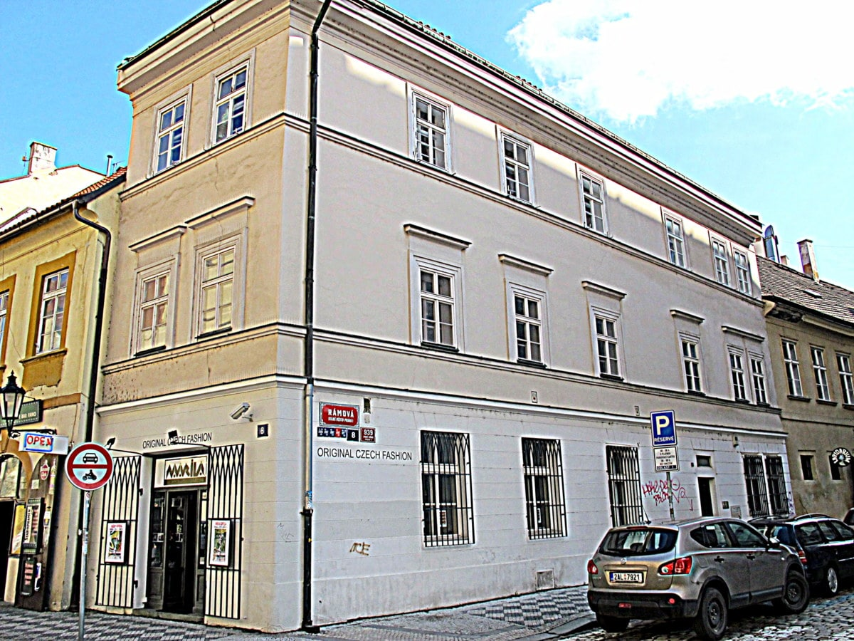 The apartment is at more than 500 years old building at historic centre of Prague