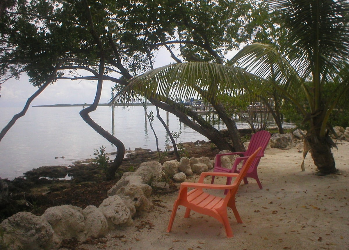 Sitting area facing the Gulf of Mexico