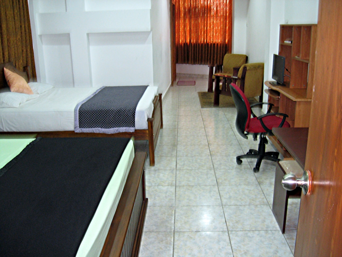 View of apartment's interior from bathroom's entrance
