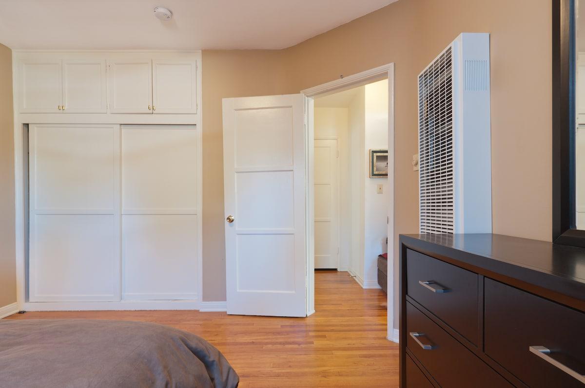 plenty of storage and closet space :)