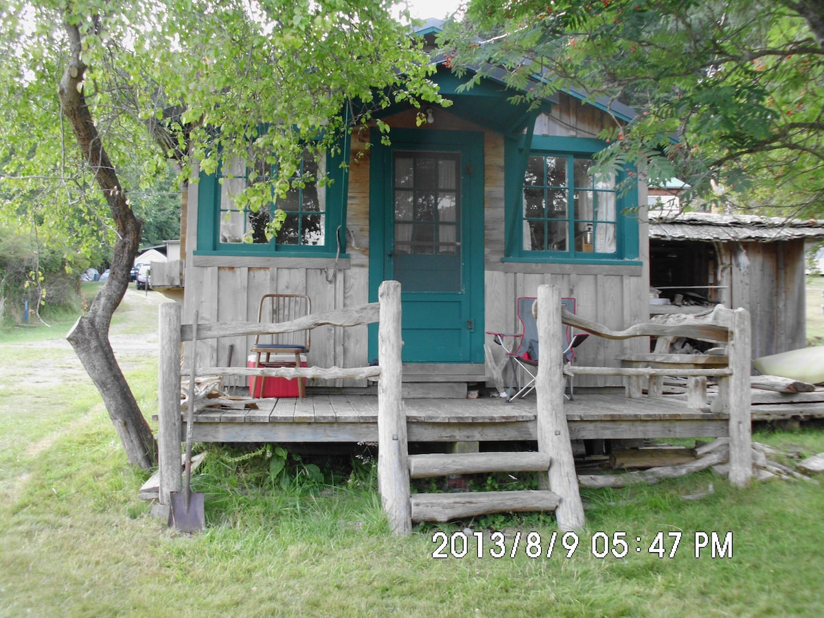 Tiny house on beach on Orcas Island