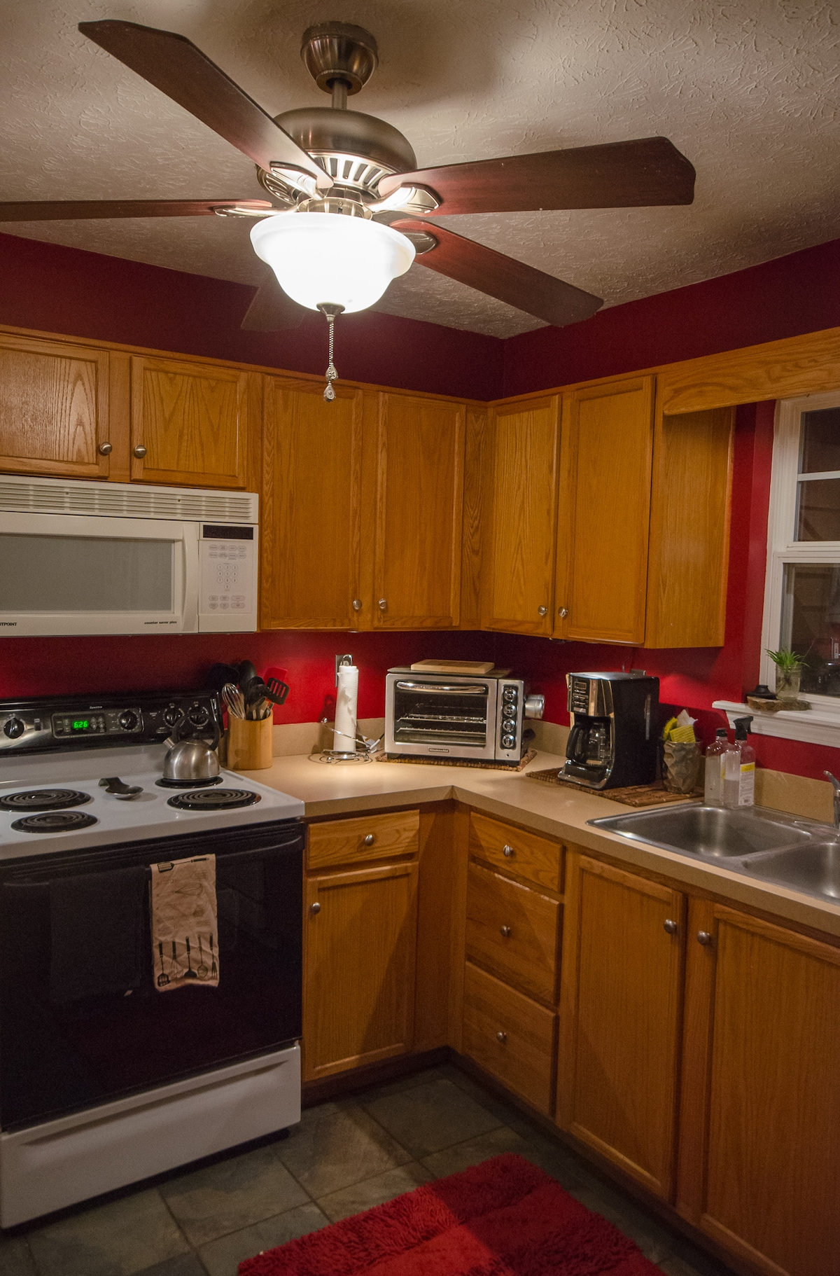 The Kitchen is stocked with all the appliances one would need.  Blenders, choppers, coffee maker and more!