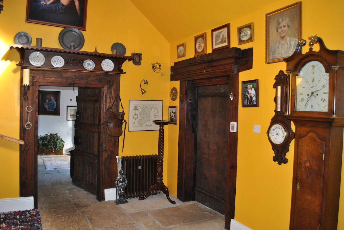 The 17th cent. doors in the Old Hall
