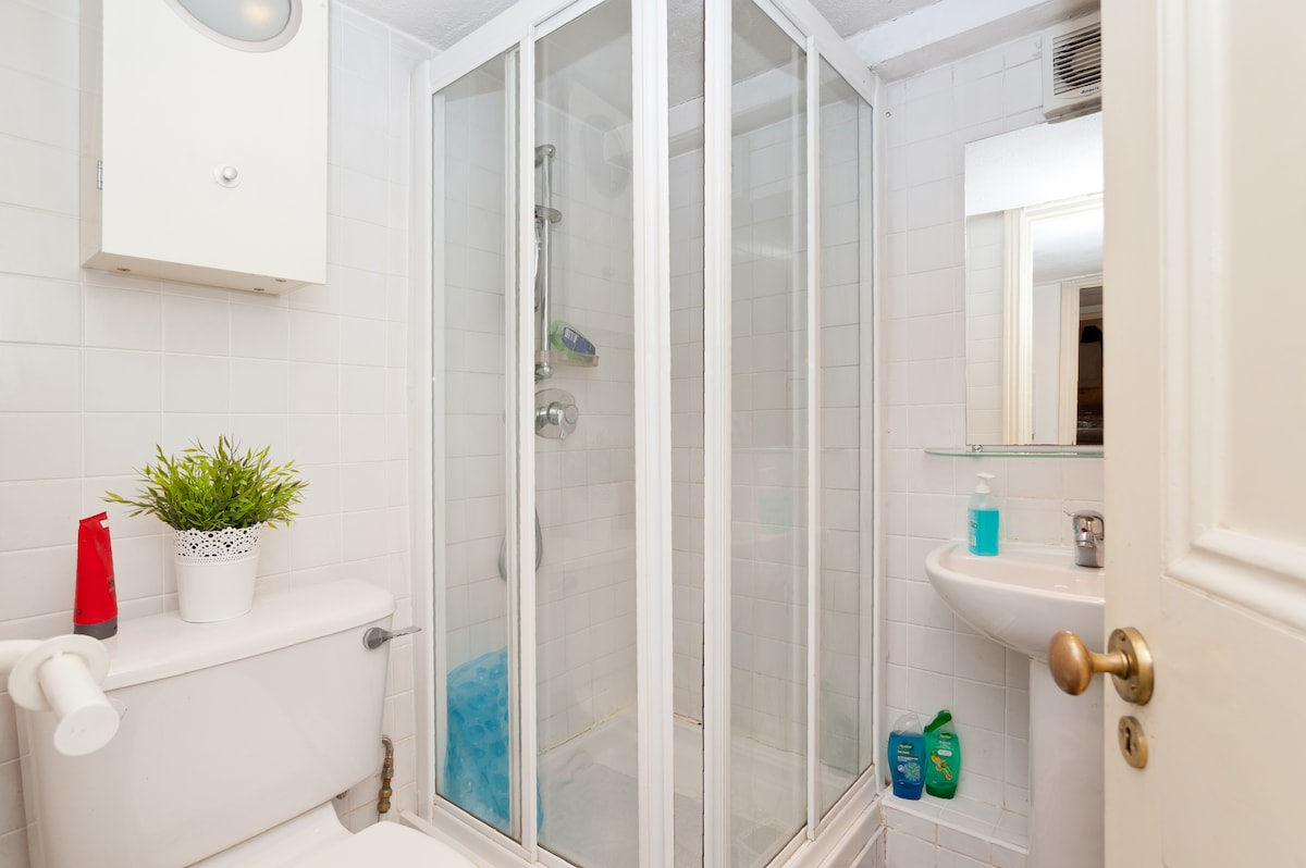 Your private bathroom - the bathroom is quite small but fully functional.