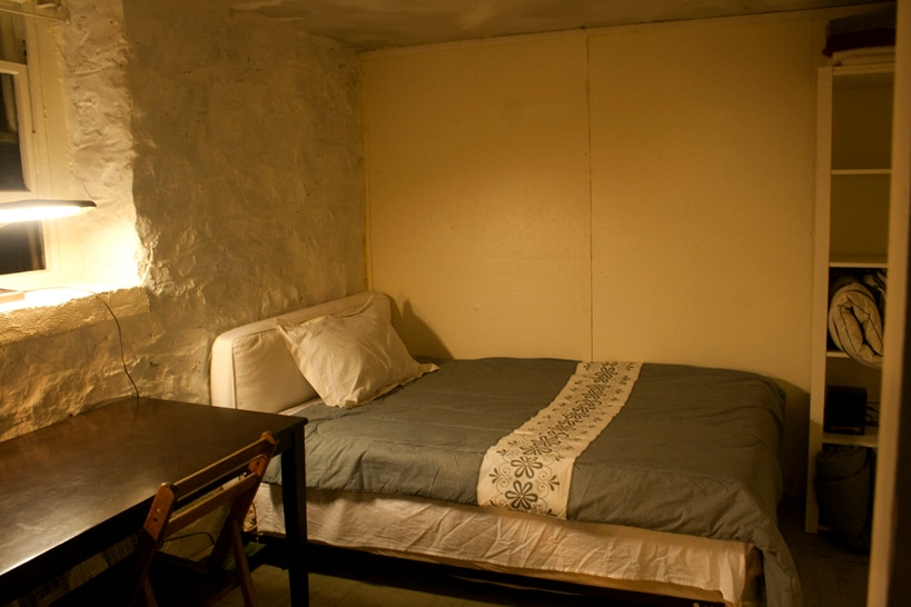 Your cozy bedroom! The mattress is new, soft and very comfortable.  Clean sheets, blankets and pillows are provided.