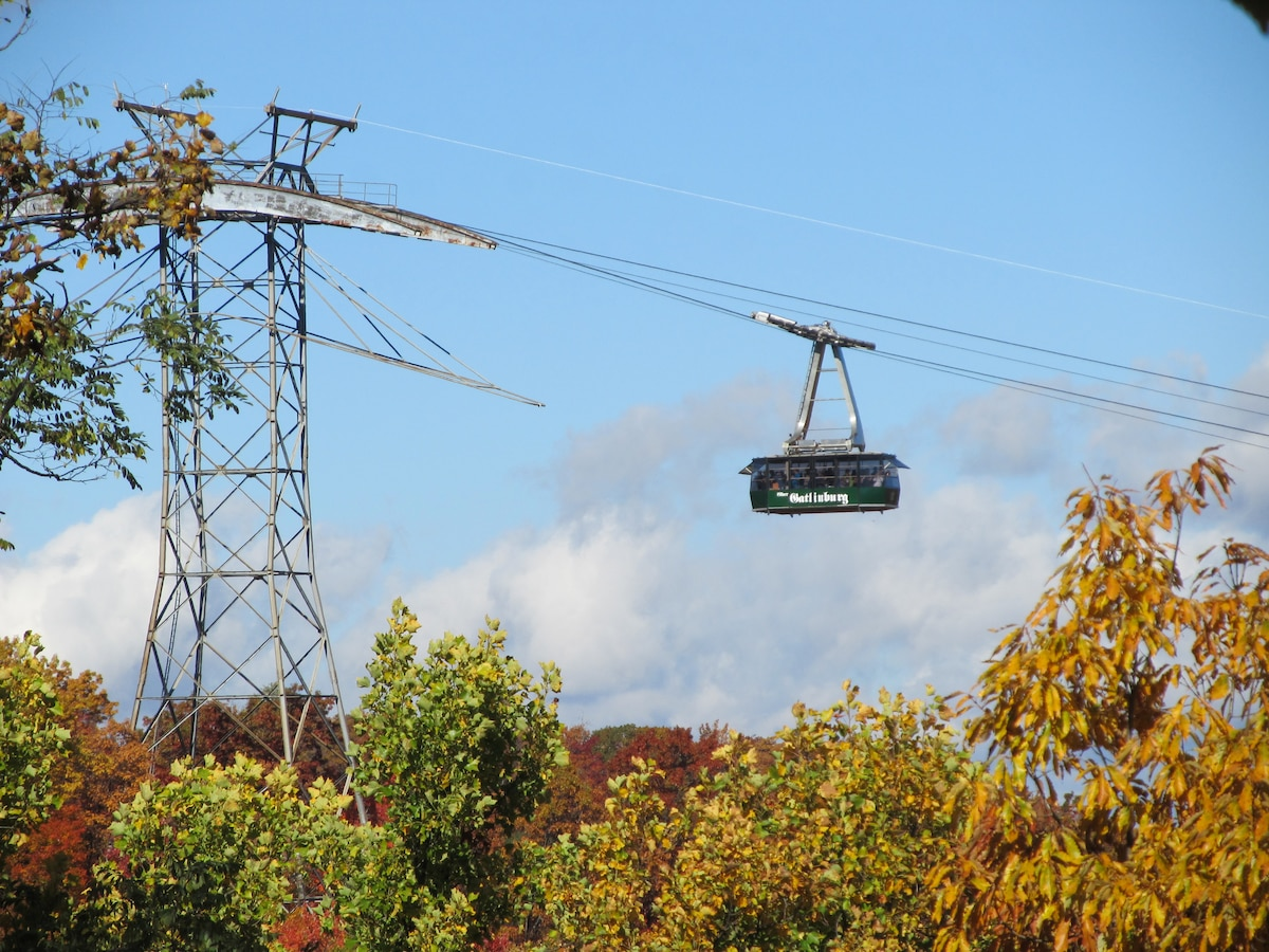 Enjoy waving to the passengers on the aerial tramway from the upper and lower decks!