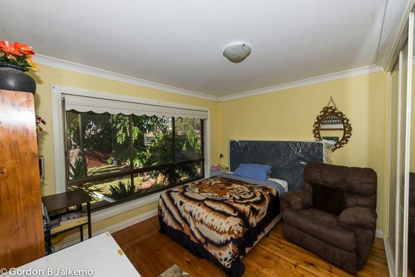 Your bedroom, front of the house, overlooking the garden.