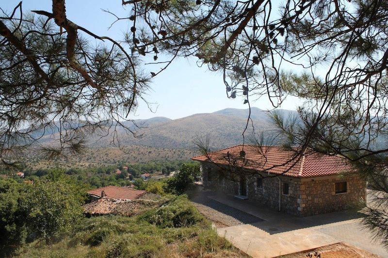 Greek Village House on a Hill
