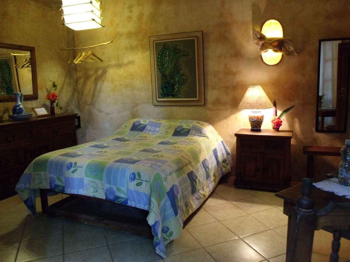 Casitas Kinsol - (website hidden) - Room #3 with hand made wood furniture