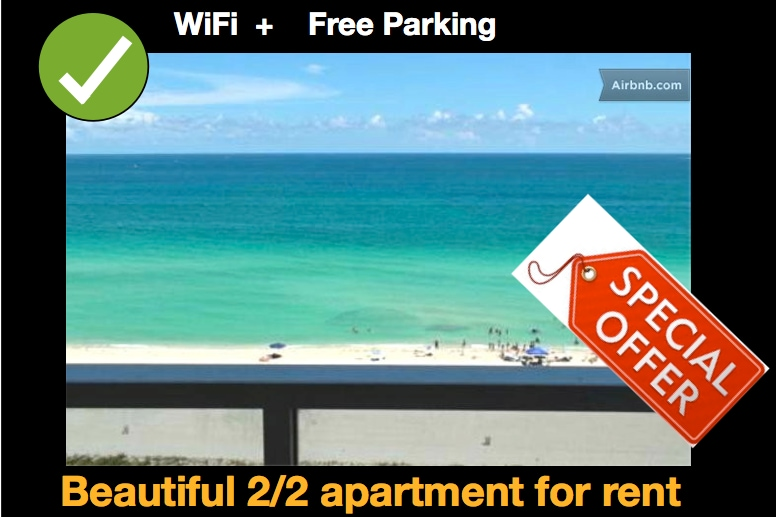 MIAMI BEACH Oceanfront 4/5 Persons
