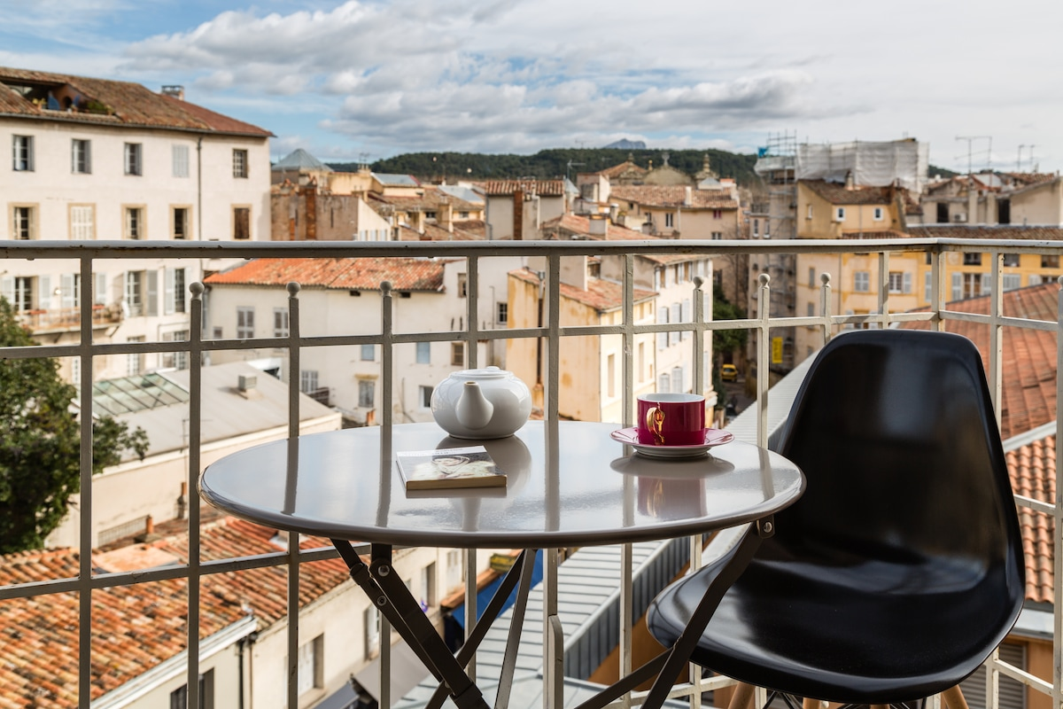 Balcon avec vue 18o° Idéal pour petit déjeuners et apéritifs