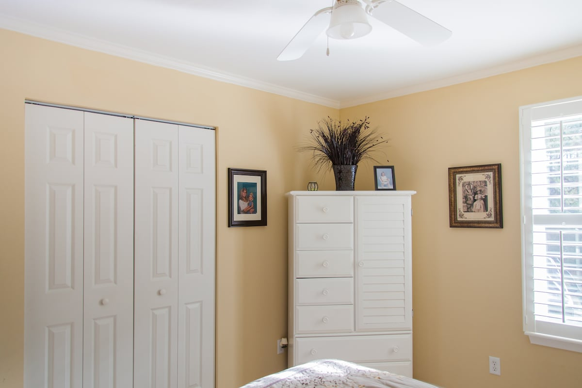 There is a armoire and closet to use for your belongings during your stay.