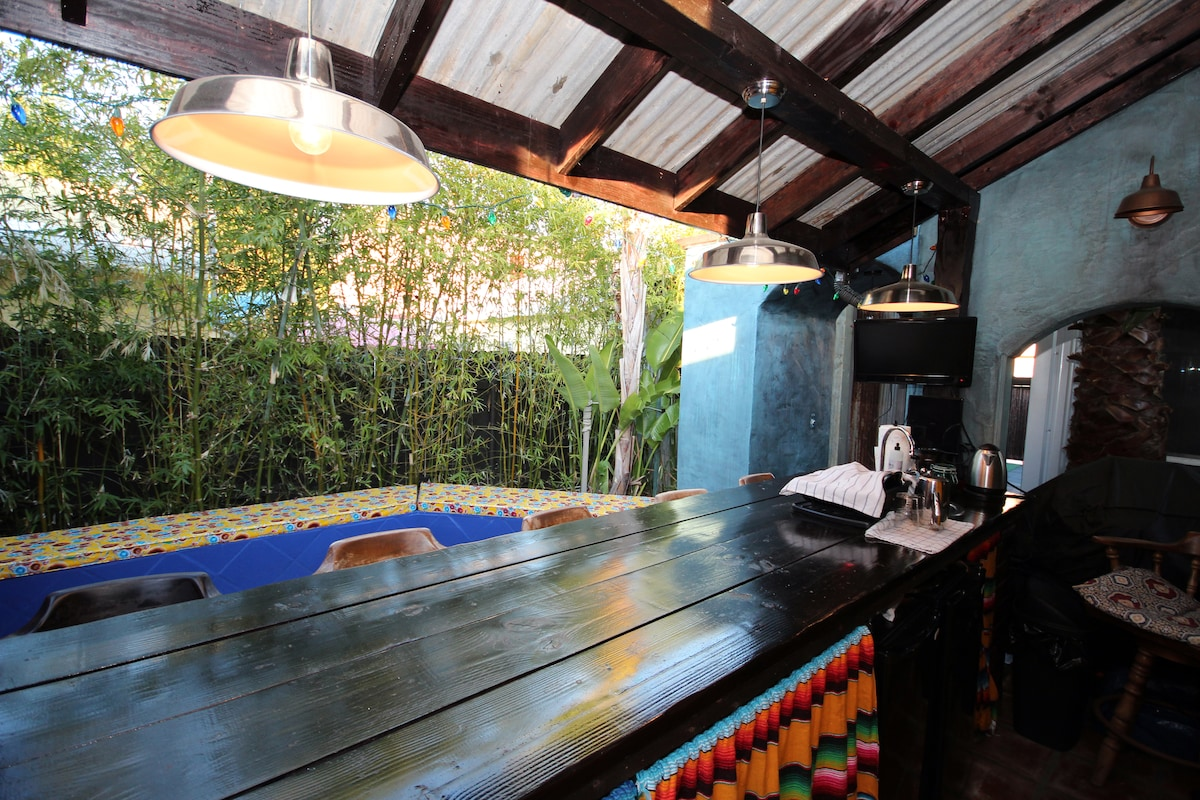 Welcome to the backyard cantina/kitchen area.  This area will be available for your use and is shared.
