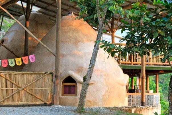 The Domes feature unique Earthbag constuction