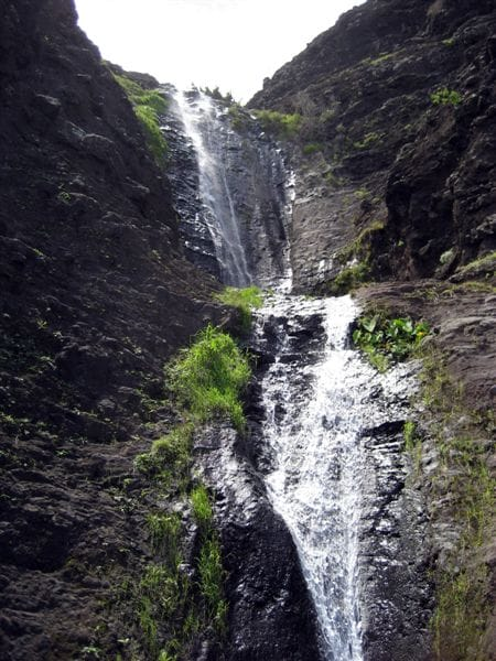 Secert waterfall near Kalalau only we know about.First place we will be sending you