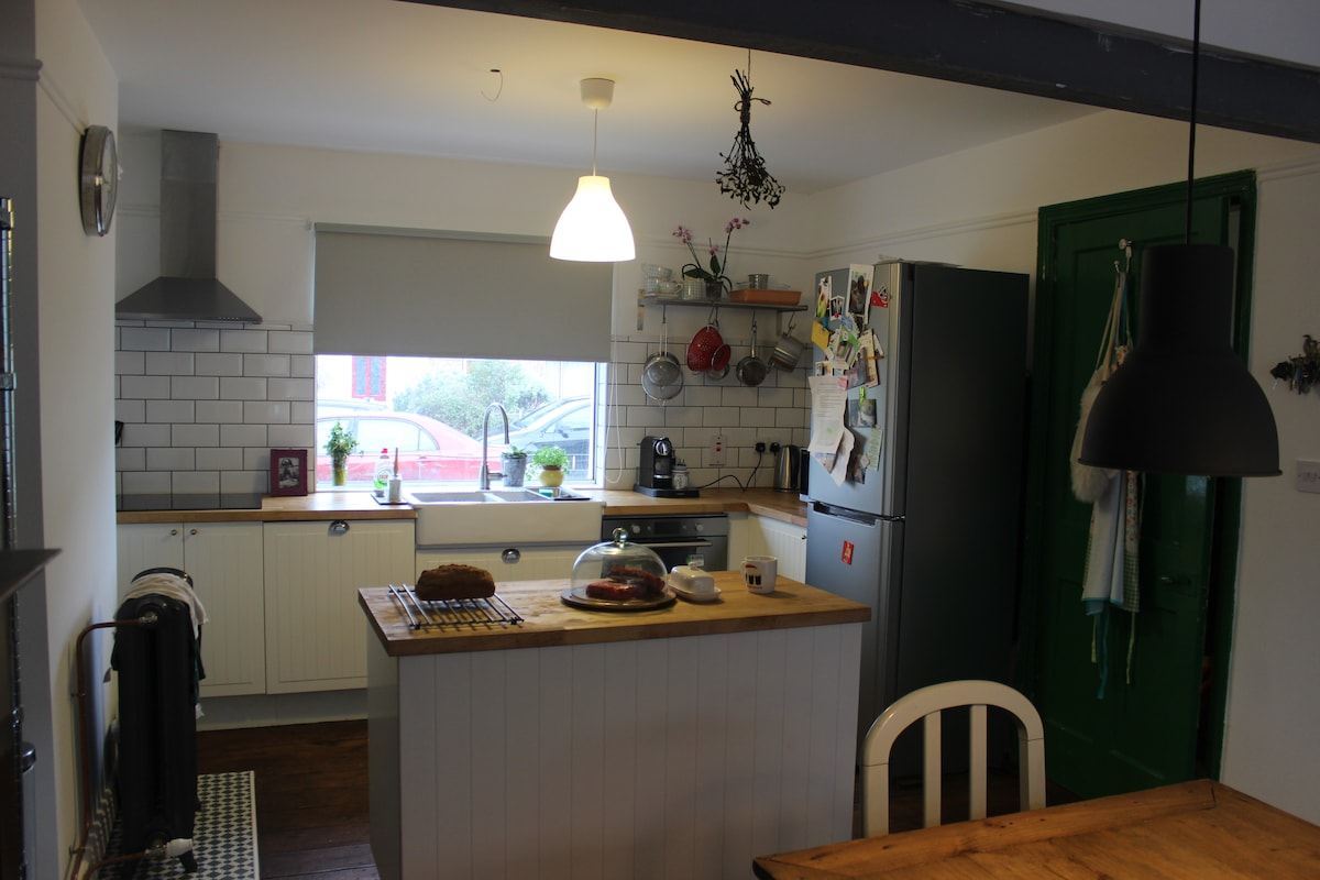The heart of our home - Light-filled kitchen and dining room