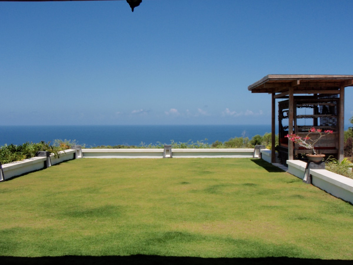 Spectacular ocean view from the Rooftop, with private lawn.