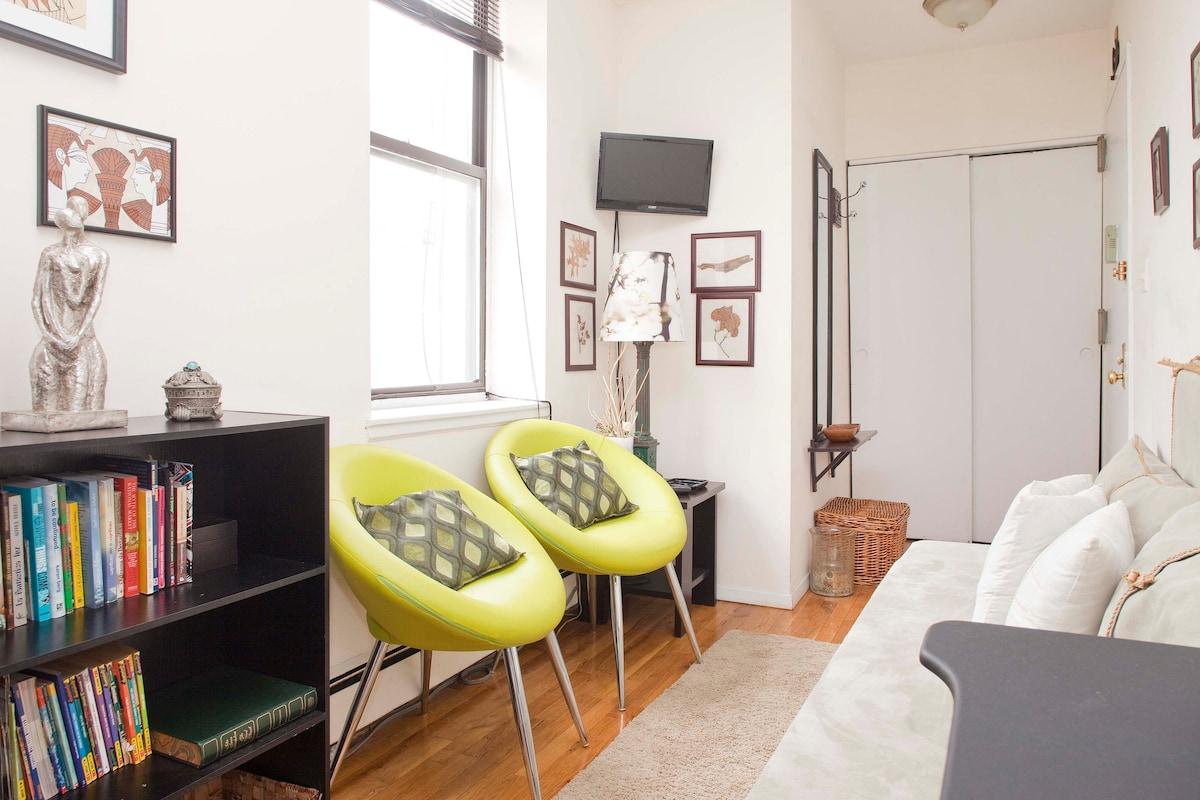 Large and cozy apart. in N.Y.