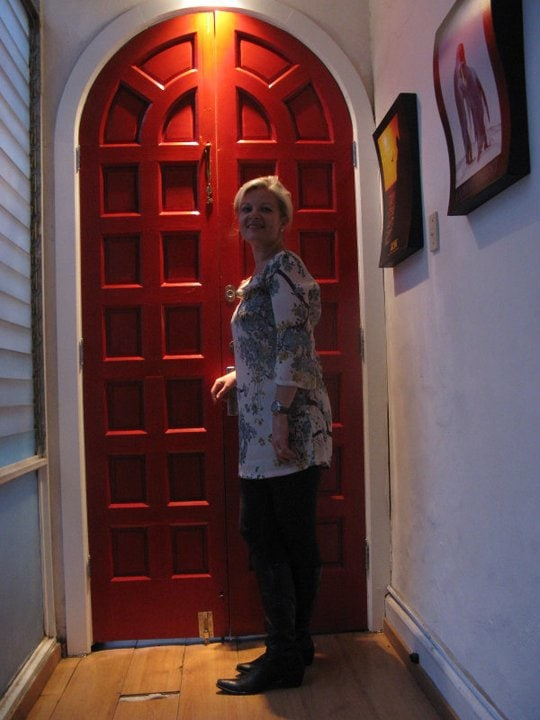 "Welcome to our house at Condesa. Red door inspired by Elizabeth Arden´s ""Red door"" spas."