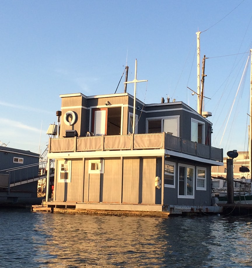 Floating Home in San Diego Bay, America's Cup Harbor.