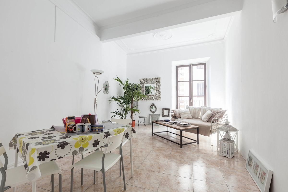 High sealing, impressively spacious living-room with balcony towards Portal de l'Angel and Placa Catalunya