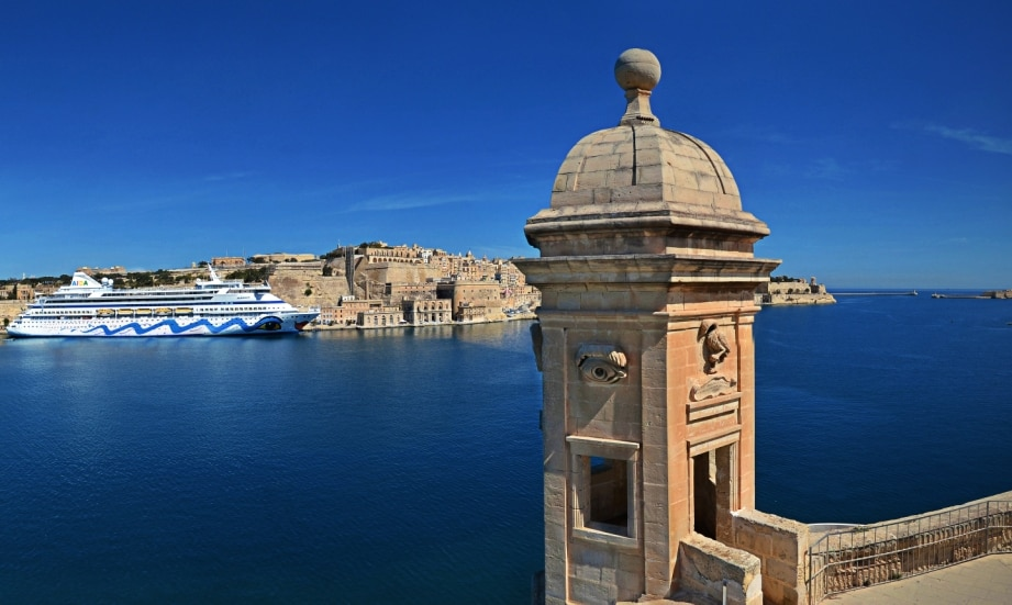 Valletta is a few minutes walk away.