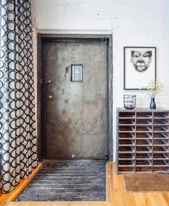 Keyed elevator opens directly into apartment