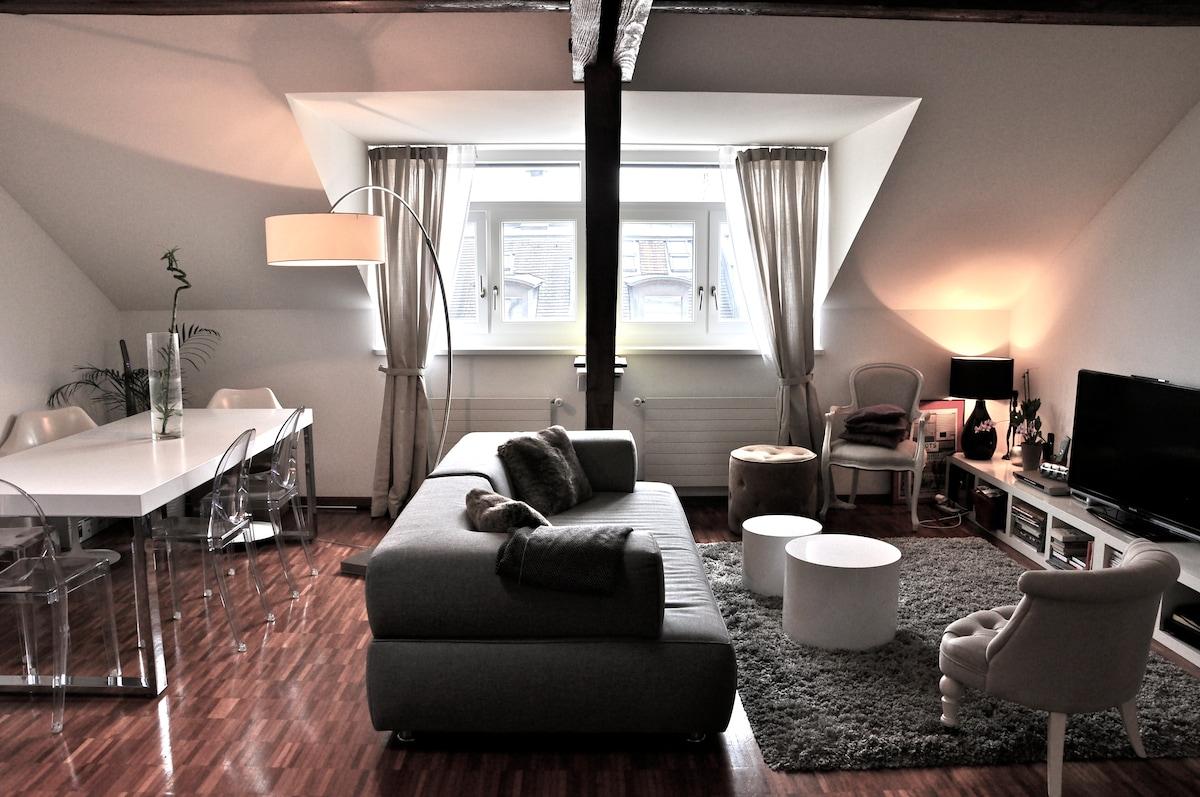 Modern & cosy loft in Geneva center