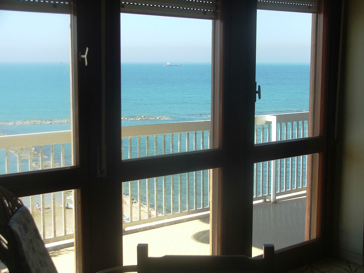 Large seafront apartment
