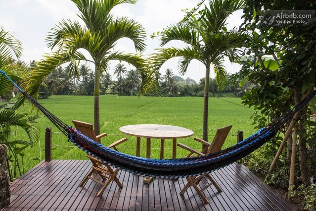 Perfect for relaxation overlooking the rice fields