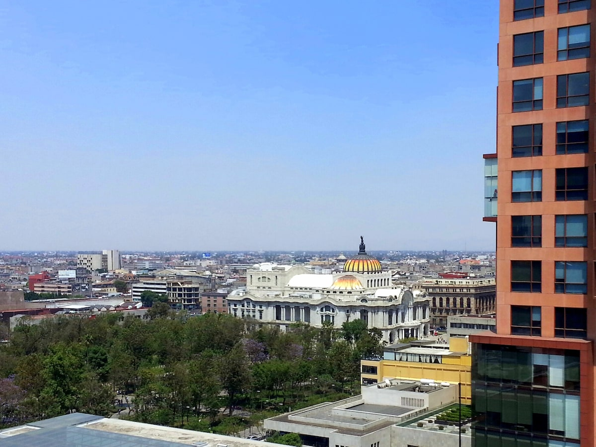View from the living room and both bedrooms. Alameda Central, Bellas Artes, Relaciones Exteriores