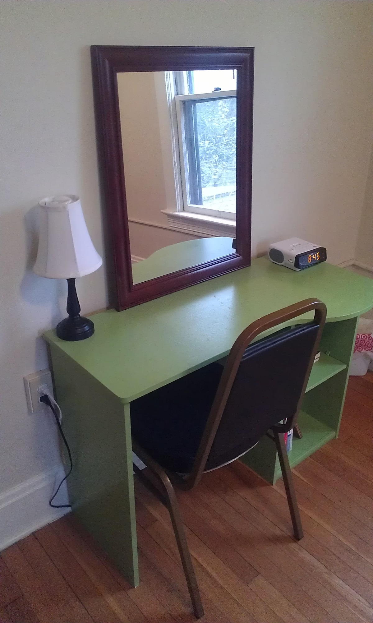 Desk in bedroom.