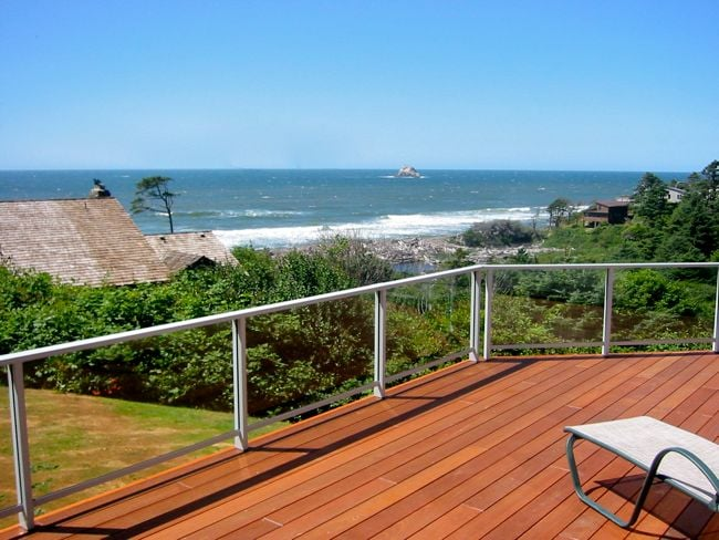 View from the 1100 square foot deck