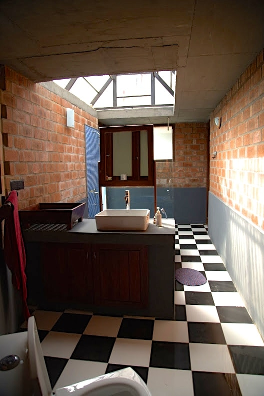 Bathroom interior - we also have solar-powered water heating!